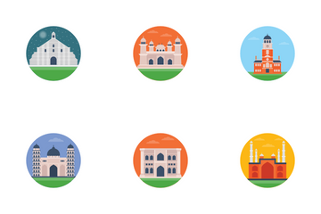 Famous Architecture World Icon Pack