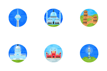 Famous Landmarks Icon Pack