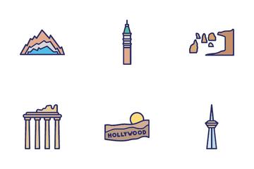 Famous Landmarks Of World Icon Pack