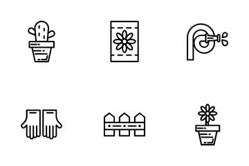 Farm Garden Outline Icon Icon Pack