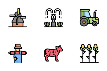 Farming Color Icon Pack