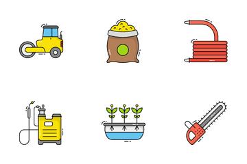 Farming Equipments Icon Pack