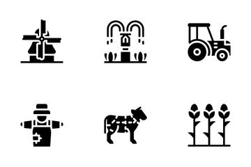 Farming Glyph Icon Pack