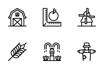 Farming Line Icon Pack