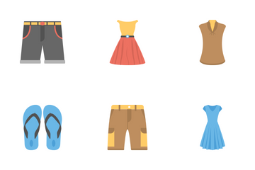 Fashion Flat Icons 2 Icon Pack