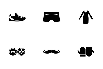 Fashion Glyph Icon Pack