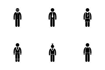 Fashionable Guy Icon Pack