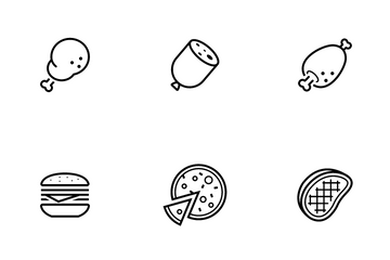 Fast Food And Meal Icon Pack