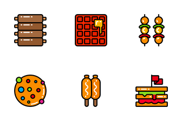 Fast Food - Bright Fill Icon Pack
