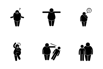 Fat Man Lifestyle Icon Pack