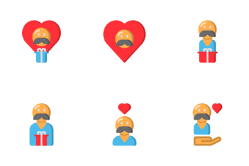 Father Day (Flat) Icon Pack