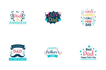 Father Day Logos Icon Pack