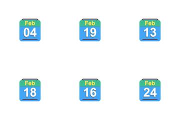 February Calendar 2017 - 4 - Flat Icon Pack
