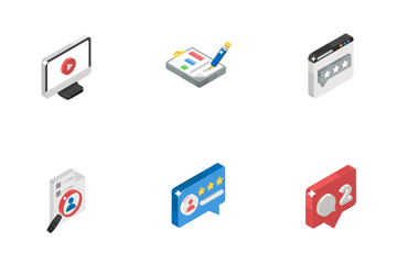 Feedback And Traffic Encryption Icon Pack