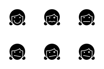 Female Emotion Icon Pack