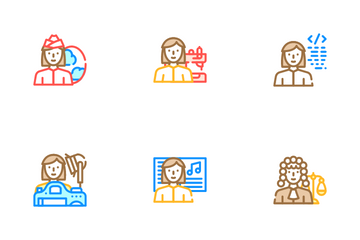 Female Occupation Icon Pack