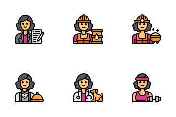Female Occupation Avatar Icon Pack