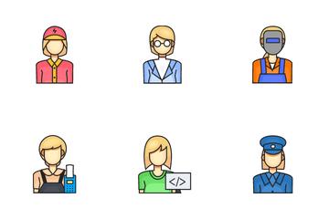 Female Profession Icon Pack