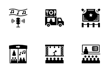 Festivalization And Exhibition Icon Pack