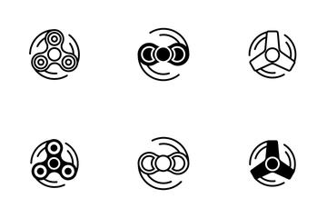 Fidget Spinner Icon Pack