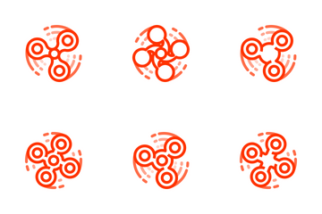 Fidget Spinner - Angry Red Icon Pack