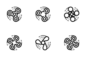 Fidget Spinner - Mono Icon Pack