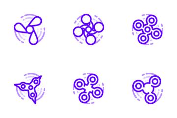 Fidget Spinner - Venom Purple Icon Pack