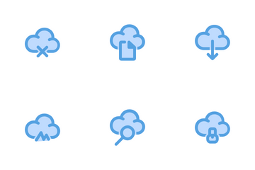 File And Cloud Icon Pack