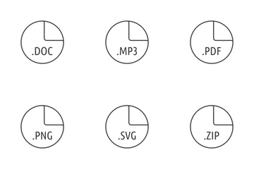 File Formats - Lines Icon Pack