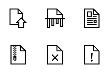File Line Icon Pack