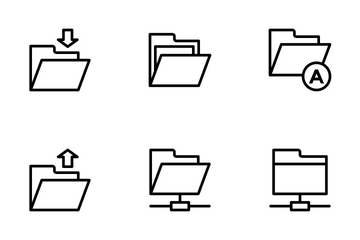 Files And Folders Icon Icon Pack