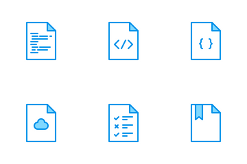 Files Bluetone Icon Pack