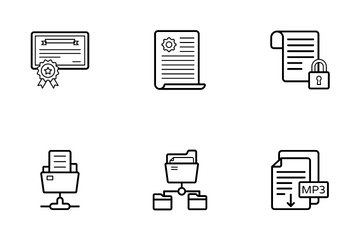Files Folders And Certificates Icon Pack