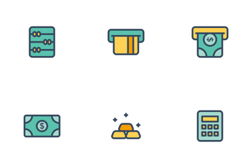 Finance Filled Line Icon Pack
