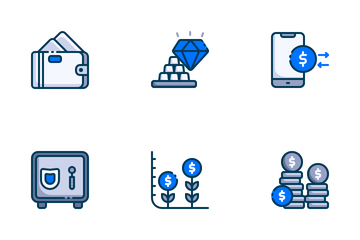 Finance Filled Outline Icon Pack