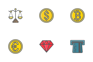 Finance Filled Outline Icons Icon Pack