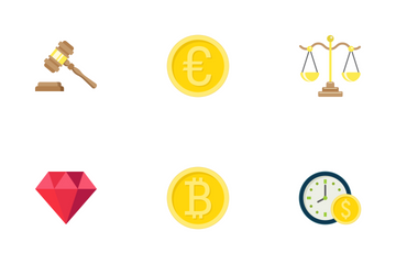 Finance Flat Icons Icon Pack