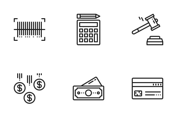 Finance & Shopping Icon Pack
