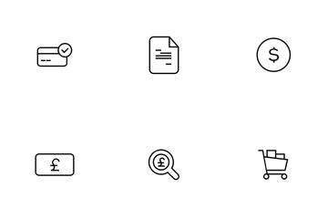 Finance Thinline Icon Pack