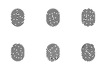 Fingerprint Security Access Authorization Icon Pack