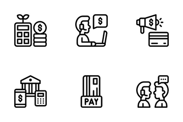 Fintech Element Icon Pack