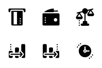 Fintech Glyph Icon Pack