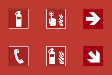 Fire Emergency Signs Icon Pack