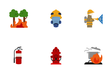 Fire Flat Icon Pack