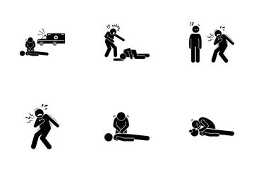 First Aid Cardiac Icon Pack
