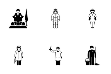 First Liner Worker Icon Pack