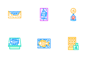 Fish Market Product Icon Pack