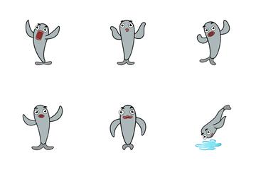 Fish Sticker Icon Pack