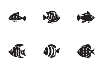 Fishes Glyph Icons Icon Pack