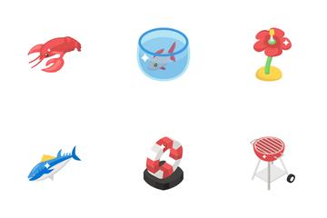 Fishing And Seashore Icon Pack